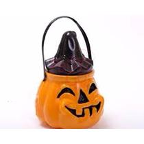 Halloween Calabaza Caramelera Con Tapa