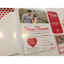 Invitaciones Tarjetas Boda - Casamiento