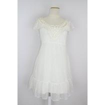 Vestido Encaje Blanco Marfil - Wupper