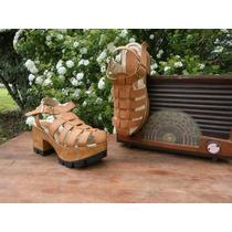 Zapatos Franciscanos Con Plataforma