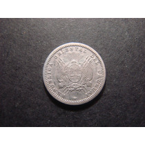 Moneda De Uruguay 10 Centimos 1877 Plata Mirala!