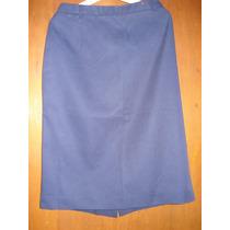 Pollera Azul Talle 46/48 , De Uniforme De Oficina
