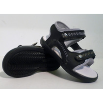 Sandalias Ojotas Niño Eco Cuero Velcros Nº 18 Al 30