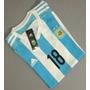 Camiseta Argentina Titular 2015! (rojo, Tevez, Di Maria)