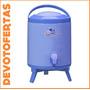 Termo Bidon Reforzado Topaz 8l Canilla Patas Frio Calor