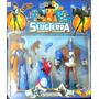 Bajoterra Slugterra Babosa + Muñecos Eli Shane Y Kord Zane