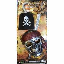 Set De Pirata En Blister Garfio Mascaras Espada