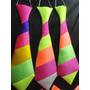 Corbatas Cotillon Corbatones Tela Fluo Multicolor