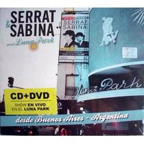 Serrat Sabina Cd Mas Dvd En El Luna Park Nuevo Y Cerrado