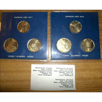 Monedas Mundial 78. 2 Blister Con 6 Monedas. Sobre Cerrado.