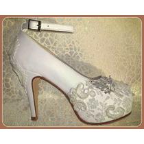 Zapatos Para Novia + Casamientos + 15 Años + Fiestas