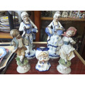 Fabuloso Lote De 5 Figuras De Porcelana Meibo Made In Japan