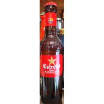 Botella Llena Cerveza Estrella Damm Logo Club Barcelona
