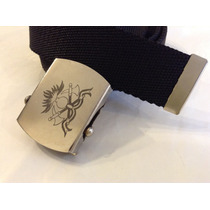 Cinturon Marinero Con Insignia De Bomberos Grabada En Laser