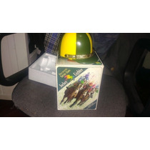 Antiguo Encendedor Jockey Turf Jinete Casco De Mesa Electric