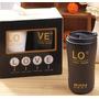 Vaso Taza Cerámica Love Con Tapa Tipo Starbucks Set X 2 Unid