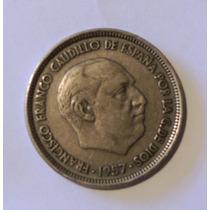 Moneda De España 50 Pesetas - 1957 - En Mendoza