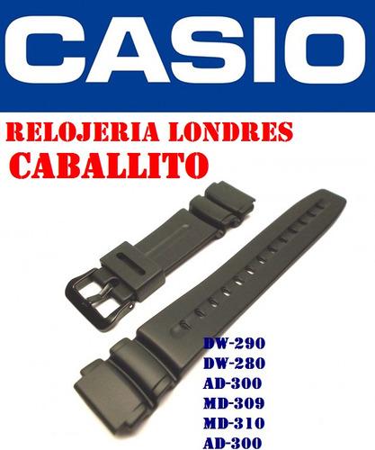 6de634196f63 Malla Correa Casio Dw290 Dw280 Md309 Md310 Ad300 Caballito