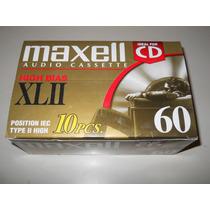 Cassette - Maxell Xlii - Cromo 60 Minutos - Caja 10 Unidades