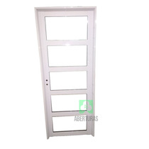 Puerta Aluminio Blanco Todo Repartido Horizontal 80x200