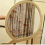 Espejo Antiguo Redondo Grande Con Patas San Miguel