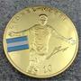 Lionel Messi Moneda Homenaje Barcelona Bañada En Oro Unica