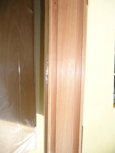 Puerta placa enchapada en cedro para durlock marco de for Marco puerta madera