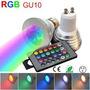Lampara Led Gu10 Rgb C/ Control Remoto 16 Colores