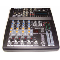 Consola Mixer Moon Mc 602 6 Canales Usb-sd Audiomasmusica