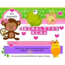 Kit Imprimible Animalitos De La Selva Nena