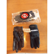 Guantes Suomy Neoprene Cuero Impermeables Negros Talle Xs M