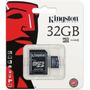 Tarjeta Micro Sd 32gb 2 En 1 Adaptador Sd Kingston Celular