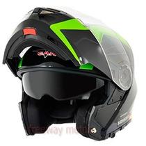Casco Rebatible V-can V270 Doble Visor Moto46!!!!!!