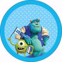 Lote De 52 Etiquetas Personalizadas Cumpleaños Monster Inc