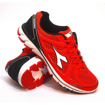 Zapatillas Diadora Modelo Running Power Color Rojo/negro