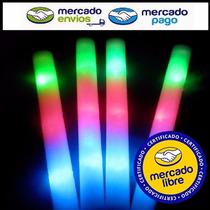 100 Varas Barra Goma Espuma Rompecoco Luminoso Led 3 Colores
