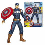 Capitan America Muñeco Lanza Escudo Con Sonidos Hasbro