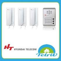 Portero Multifamiliar 3 Departamento Fte Aluminio Hyundai