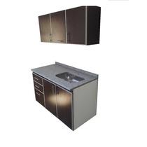 Muebles De Cocina C/cantos De Aluminio Completisimo 1,40 Mt