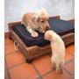 Cama En Pallets Madera Para Perros 80x60 Cm Con Almohadón