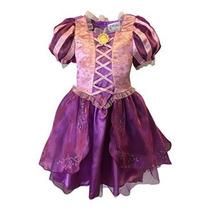 Vestido Disfraz Princesa Rapunzel Disney