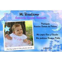 Tarjetas Invitaciones Bautismo Bebe Baby Sower Infantil X20