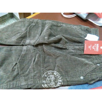 Pantalón Mimo Nuevo, T3 , Corderoy Con Etiqueta Color Habano