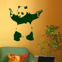 Calco Sticker Decorativo Panda Con Armas Banksy