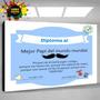 Diploma Dia Del Padre - Cuadros Personalizables Para Regalar