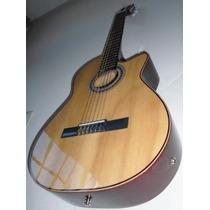 Guitarra Clasica Electro Criolla Con Corte ,unica Calibrada