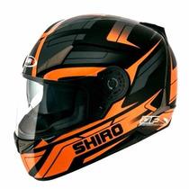 Casco Integral Shiro Sh-715 Austin Naranaja Doble Visor Mm