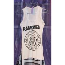 Musculosa Blanca Ramones Mujer