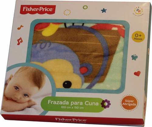 Frazadita de cuna de bebe micropolar estampado fisher price 330 ger1v precio d argentina - Fisher price cuna ...