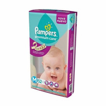 Pañales Pampers Premium Care Suave Hiperpack M